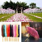 Lace Cotton Embroidery Wedding Umbrella Bridal Parasol Photo Props Handmade UK
