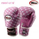 NEW TWINS BOXING GLOVES FANCY FBGV-47 MUAY THAI FIGHTING MMA K1 GENUINE LEATHER