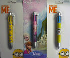 Frozen or Despicable Me Minion 6 in 1 Ball Point Pen