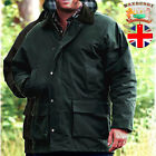 Waxberry Countryman Cotton Wax Jacket Hooded Padded Coat Hunting Riding fishing