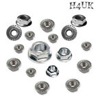 A4 STAINLESS STEEL MARINE GRADE SERRATED HEX FLANGE NUTS M3 - M10 DIN6923