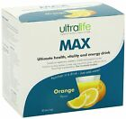 Ultralife Max- Ultimate Health,Vitality and Energy Drink- Orange flavour 30/14pk
