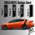 2013 2014 2015 Dodge Dart Rear Racing Stripe Vinyl Decal Sticker SXT SRT RT SRT8 $ USD