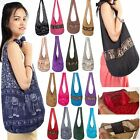 Thai Cotton Bags Hobo Sling Messenger Buddha Shoulder Hippie Yaam Crossbody Bag