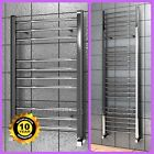 Bathroom Heated Towel Radiator Chrome Curved Ladder Rail Rad ( ALL SIZES )