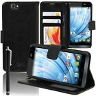 Cover Wallet Case Flip Book Folio Integrated support for Wiko Getaway