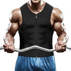 Mens Sweat Sport Vest Shaper Stomach Tummy Trainer Waist Slimming Girdle Shirt