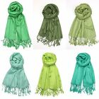 Mint Olive Lime Green Pashmina Scarf Shawl Wrap Evening Wedding Ceremony Outdoor