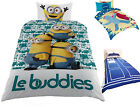 Kids Duvet Cover Single Bed Set Pillow Case Quilt Minions Cover Bedding Cotton