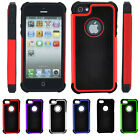 For Apple iPhone 5 5S 3 in1 Protective Shockproof Silicone Rubber Cover Case Bag