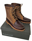 TIMBERLAND Mens AUTHENTICS Leather Canvas Chukka Moccasin Boot Shoes UK9 10 £160