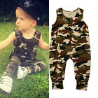 Newborn Baby Boy Girl Camouflage Romper Bodysuit Jumpsuit Outfits Summer Clothes