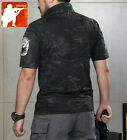 MULTICAM BLACK Short Sleeve Combat SHIRT Military Tacitcal T-Shirt Special force