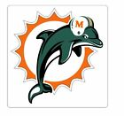 Miami Dolphins Sticker Decal S28 YOU CHOOSE SIZE on eBay