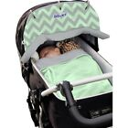 Dooky Mint/Grey Car Seat Hood/Reversible Shades/Car Seat Cover/Blanket