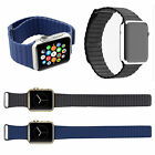 For Apple Watch iWatch Leather Loop Magnetic Buckle Watch Band strap 38mm/42mm