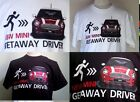 Mini Cooper Getaway RALLY Car Shirt advan classic rally cart t-shirt MIN009-010