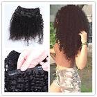 2017 New Afro Kinky Curly - Natural Clip IN-Remy Human Hair Extensions