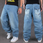 #95 Men Beand new Hip Hop Concise Simplicity Pants Trousers Casual Wash Jeans