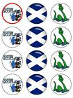 Scottish Scotland  Edible Cake Toppers Wafer Icing cupcake x 12 Decoration