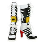 Batman DC Comic Suicide Squad Harley Quinn Cosplay Shoes Boots High Quality New