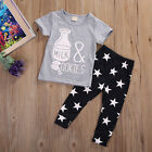 Infant Kids Baby Girls Boys Outfits T-Shirt Tops+Pants Toddler Clothes 2Pcs Set