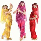 S XXL KIDs Belly Dance Costume Danse Shiny Sequins Metal Coin for Girl Children