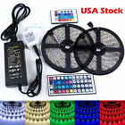 5/10M 5050 RGB 300 LED Strip Light SMD Flexible 44key Remote 12V Power Supply MX