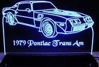 """1979 Trans AM Edge Lit Awesome 21"""" Lighted Led Sign Plaque 79 VVD9 Made USA"""
