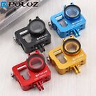 Red Housing Shell Aluminum Protective Cage+37mm UV Lens Filter For GoPro HERO4
