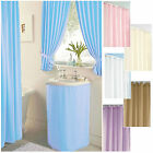 Plain Dyed *CLEARANCE* Bathroom & Shower Curtains, Sink Skirts- NEW SIZES ADDED