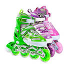 Light Up Kids Adjustable Roller Blades Inline Skates Size 12J-2 3-5 6-9