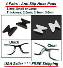 4 Pairs Anti-slip Silicone Stick On Nose Pads For Eyeglasses Sunglasses 6-TYPES!