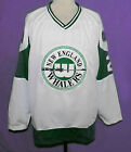 RICK LEY WHA NEW ENGLAND WHALERS RETRO HOCKEY JERSEY WHITE SEWN NEW ANY SIZE