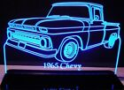 """1965 Chevy Pickup C10 Edge Lit Awesome 21"""" Lighted Sign Plaque 65 VVD1 Made USA"""