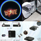 Car Wireless Door LED Welcome Logo red LOVE  Shadow Ghost Light  #276