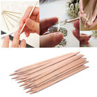 50/100x Wood Cuticle Sticks Hoof Pusher Nail Tool Manicure Pedicure Nail Art