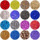 50g Size 8/0 (approx 3mm) GLASS SEED BEADS - CHOICE OF 15 COLOURS