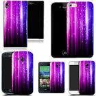 hard durable case cover for iphone & other mobile phones - purple falling strip