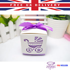 1/10/25/50pcs Baby Carriage Design Candy Box Favour Gift Bag 5 Colours Wedding