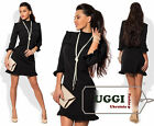 Beautiful Woman Dress Crepe-Diving 3/4 Sleeve Bodycon Above Knee Casual