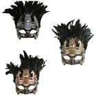Feather Roman Gladiator Masquerade Mask Venetian Halloween Costume Prom Disguise