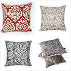 "16"" Vintage Linen Cotton Throw Pillow Case Cushion Cover Home Sofa Decor US New image"