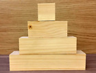 Small 3 Tier Wooden Block Set with 1 cube CRAFT WOODEN BLOCKS STACKING real wood