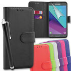 Premium PU Leather Wallet Case Cover for Samsung Galaxy J3 (2017) + Tall Stylus