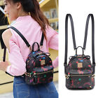 Faux Leather Convertible Small Mini Backpack Rucksack Shoulder bag Purse Cute