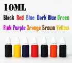 10ml refill ink 10 color choice for self inking flash rubber stamp