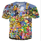 Women/Men's Super Mario Party Drinking Game 3D Print Casual T-Shirt plus size A