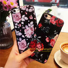 Ultra Slim Flower Pattern Rubber Soft TPU Back Case Cover for iPhone 5 6s 7 Plus