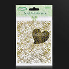 New 3D Nail Art Stickers Embossed Nail Stickers Blooming Flower Decals CA